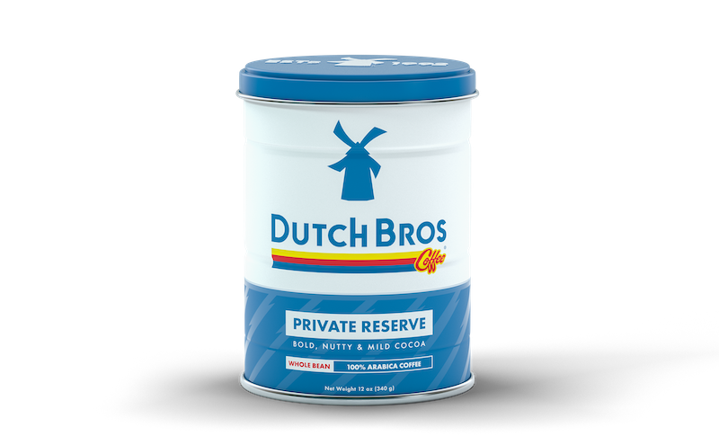 Can of Dutch Bros Coffee Private Reserve