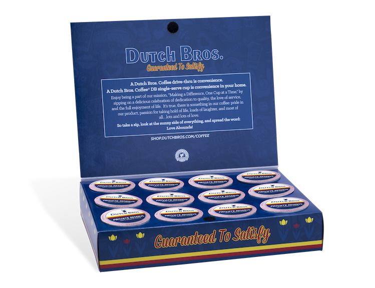 Box of Dutch Bros Coffee k-cups