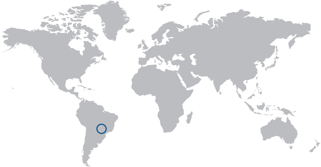 Map showing the source region for decaffeinated is reflected in the circle on the map.